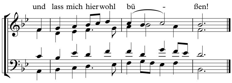 BWV 48 Fauxbourdon