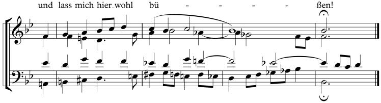 BWV 48 Schluss