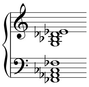 Notenbeispiel Sacre-Akkord Ziffer 13