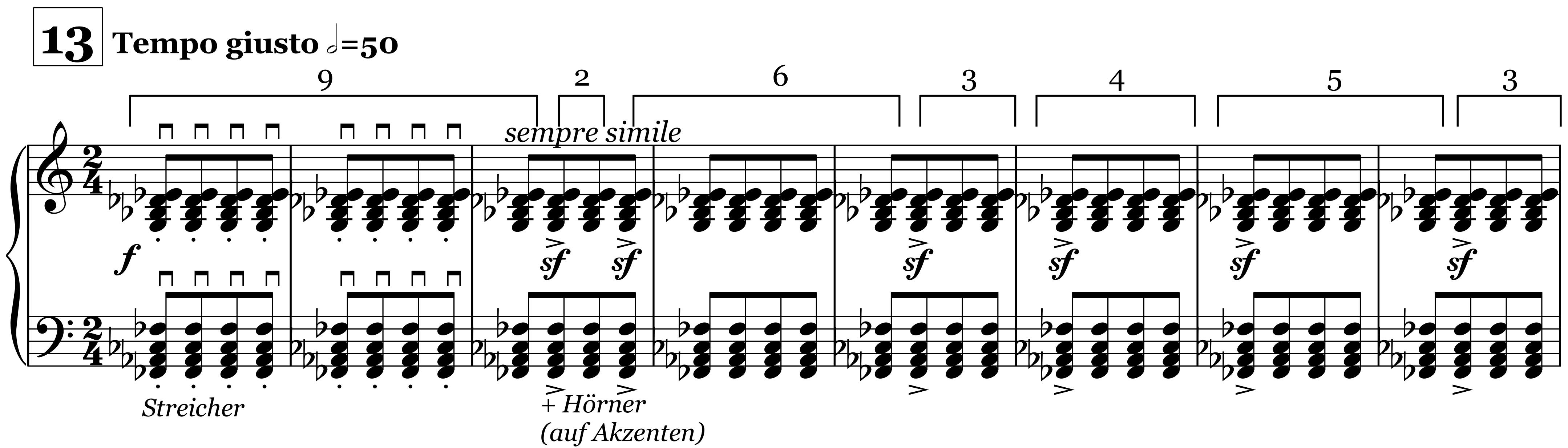 Sacre, Ziffer 13